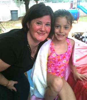 Allison Whitaker and niece Ellie Dawson 2012