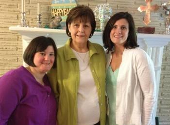Allison Whitaker, Sunny Whitaker, Evans Whitaker Dawson Easter 2012