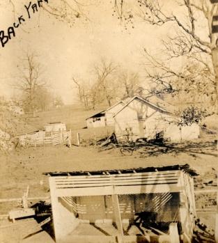 back yard Billups Gate