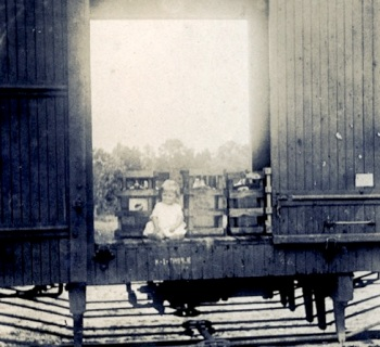 Carleton rail car, taken at Stafford Springs 1915