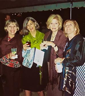 Ellen Kimbrough Upton, Virginia McLean, Christine McBee and Bess Carrick at Cameron's reception.