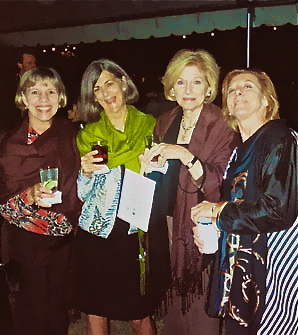 Ellen Kimbrough Upton, Virginia McLean, Christine McBee and Bess Carrick at Cameron's reception.