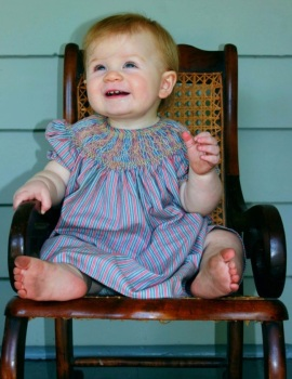 Harper Hoffman in Mississippi 9-2012, grandchild of Rufus and Karen Ward
