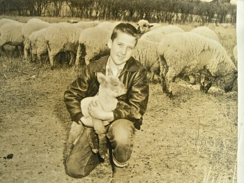 John Bailey Hardy and his 4 H animals