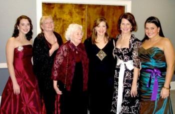 Julia Webb, Helen Hardy, Anne Hardy, Sarah Frances Hardy, Sarah Hardy Webb and Caroline Webb
