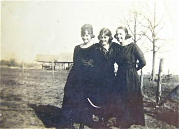 Ladies in black visiting the prairie