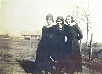 Ladies in black visiting the prairie