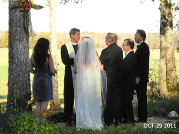 Lucy and Boyd Wade's wedding at her family home in the prairie, Oct 2011