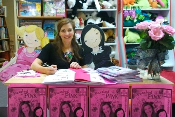 Sarah Frances Hardy at her book signing