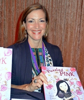 Sarah Frances Hardy with her new book.