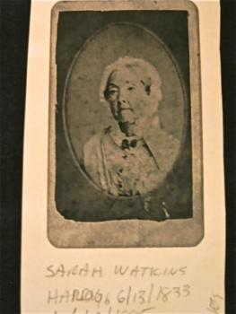 Sarah Watkins Hardy 1833