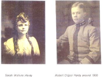 Sarah Watkins Hardy  and Robert Orgain Hardy around 1900