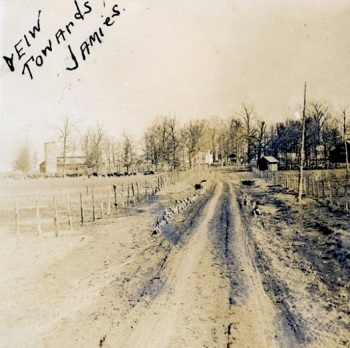 View toward Jamie's, prairie in winter