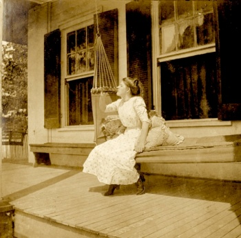 Unknown young lady visiting the Billups